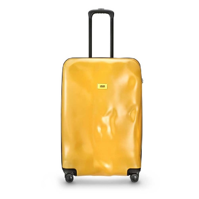 CRASH BAGGAGE trolley klein geel knoopsschat aalter