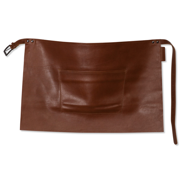 dutchdeluxe bistro1 waist apron classic brown knoopsschat aalter