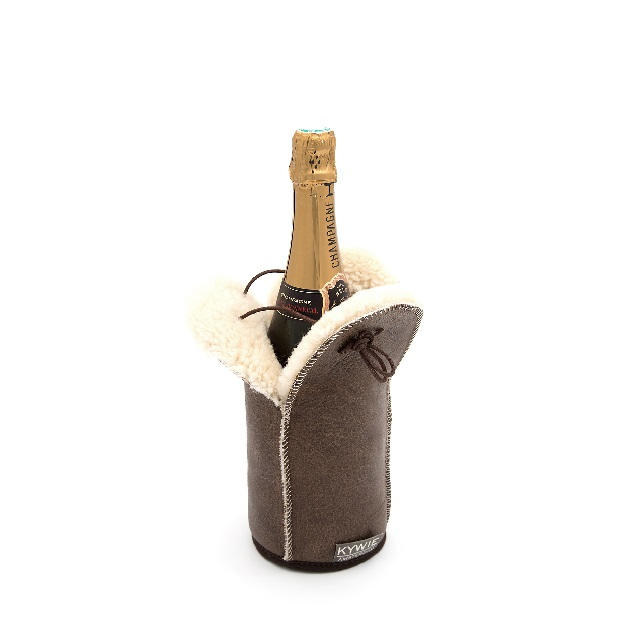 kywie bruin-krekleder-champagnekoeler knoopsschat aalter