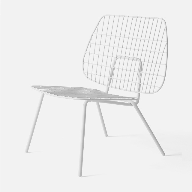 Menu stoel/zetel String_Lounge_Chair_White knoopsschat aalter