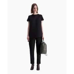 marimekko elena solid long black trousers knoopsschat aalter