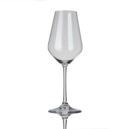 le creuset White wine Glass knoopsschat aalter