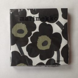 marimekko-papieren-servet-groot-unikko-zwart knoopsschat aalter